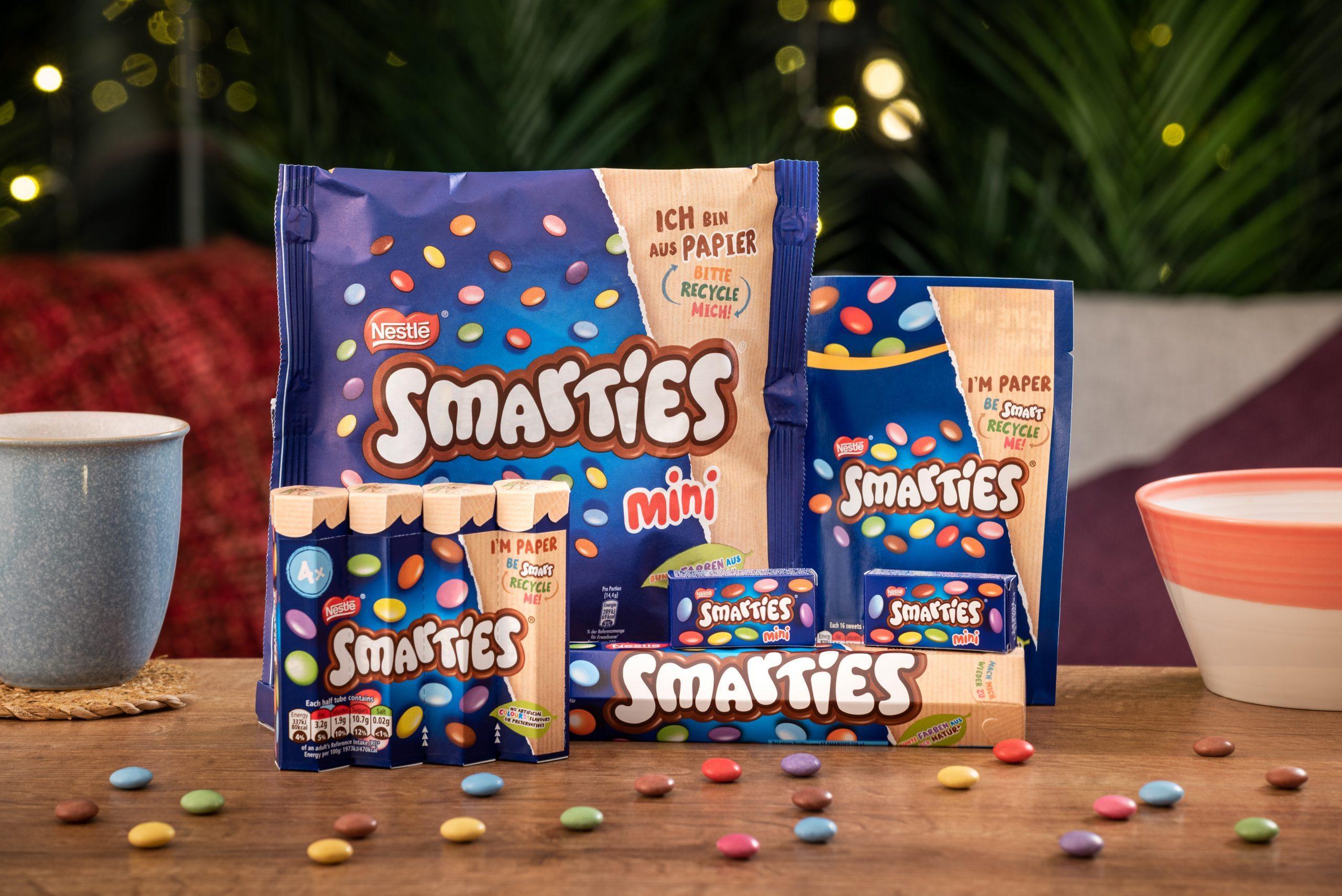 Nestlé setzt weltweit auf recycelbare Papierverpackungen bei der beliebten Süßwarenmarke SMARTIES