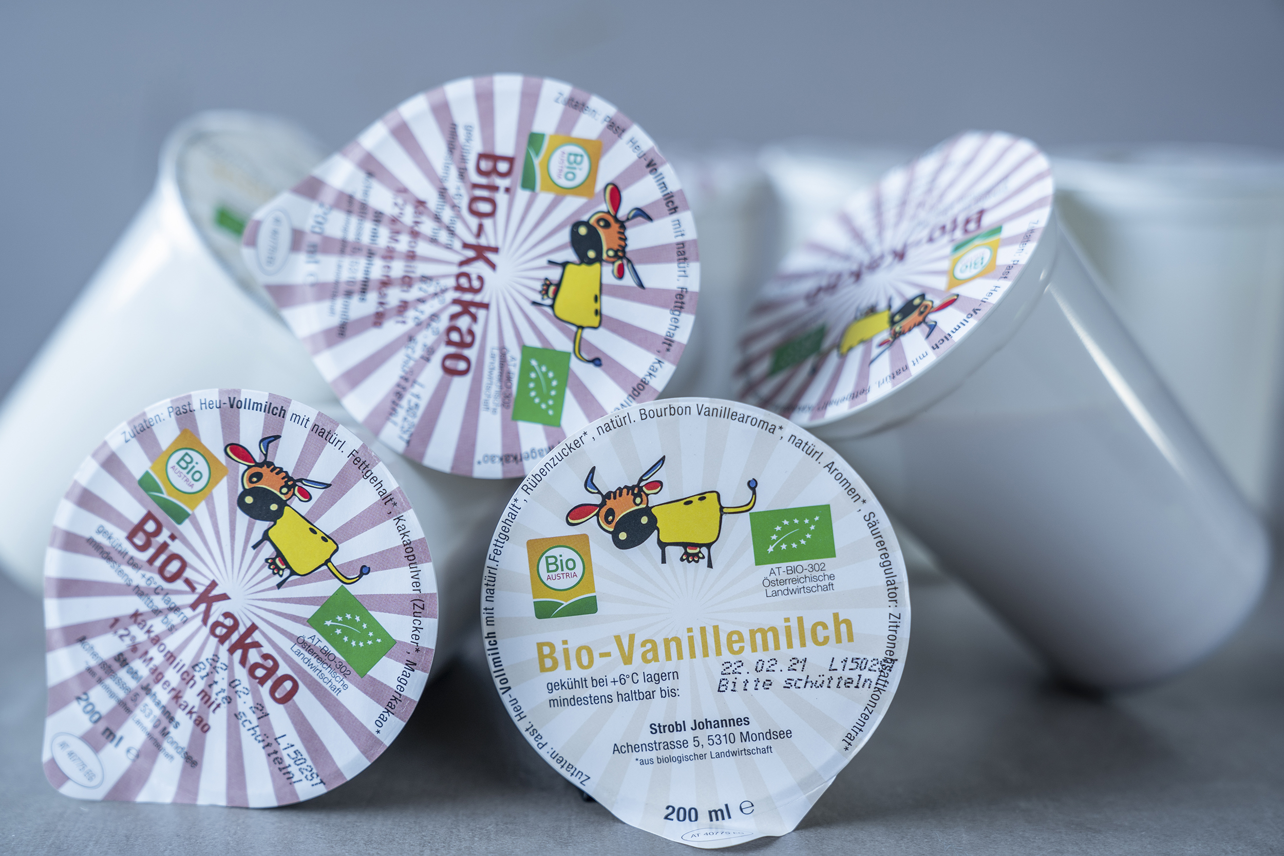 Nachhaltige rPET Becher für Schulmilch